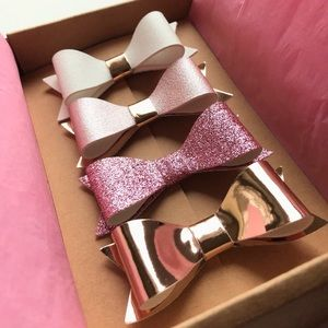 New Rose Gold Hair Bows